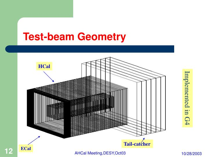 Test-beam Geometry