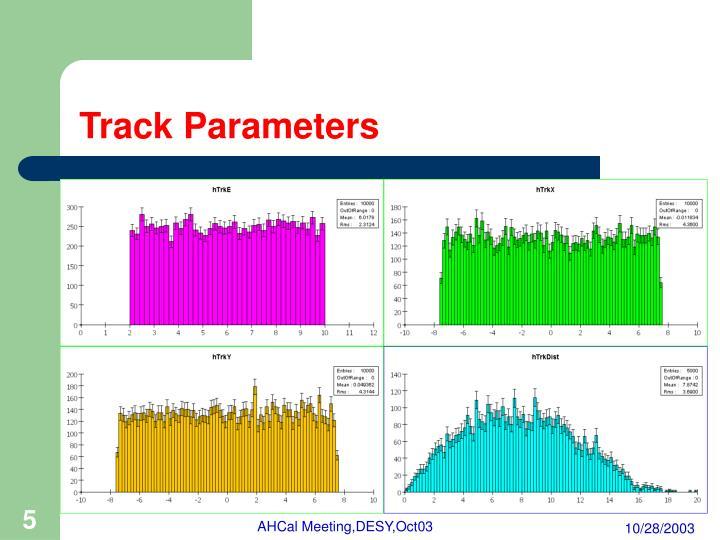 Track Parameters