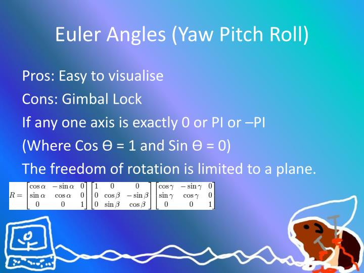 Euler Angles (Yaw Pitch Roll)