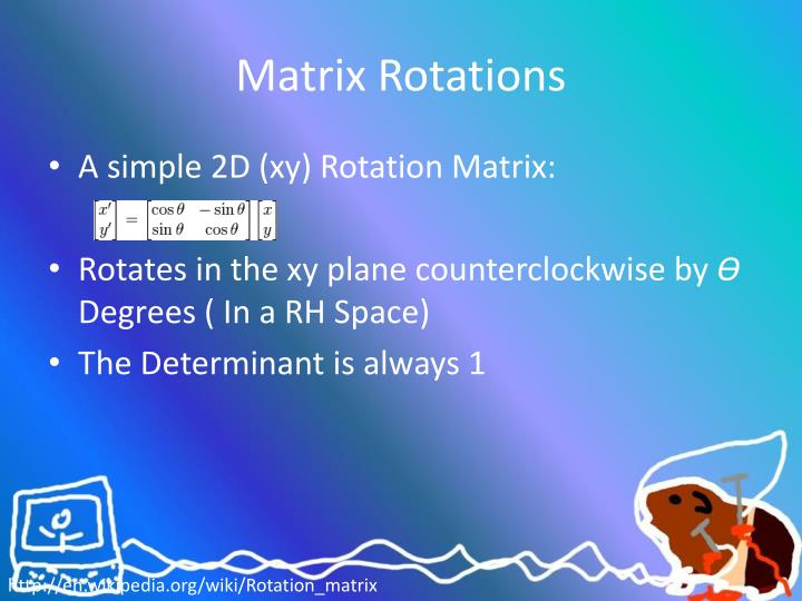 Matrix rotations