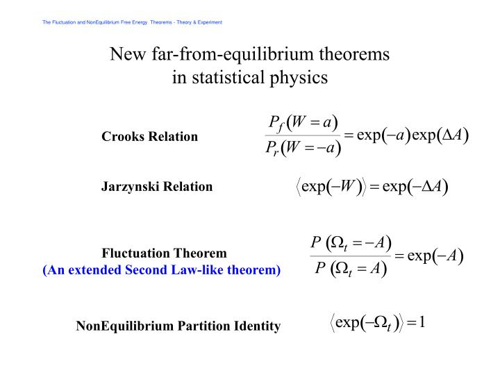 New far-from-equilibrium theorems