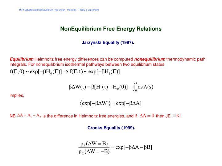 NonEquilibrium Free Energy Relations