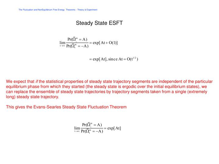 Steady State ESFT