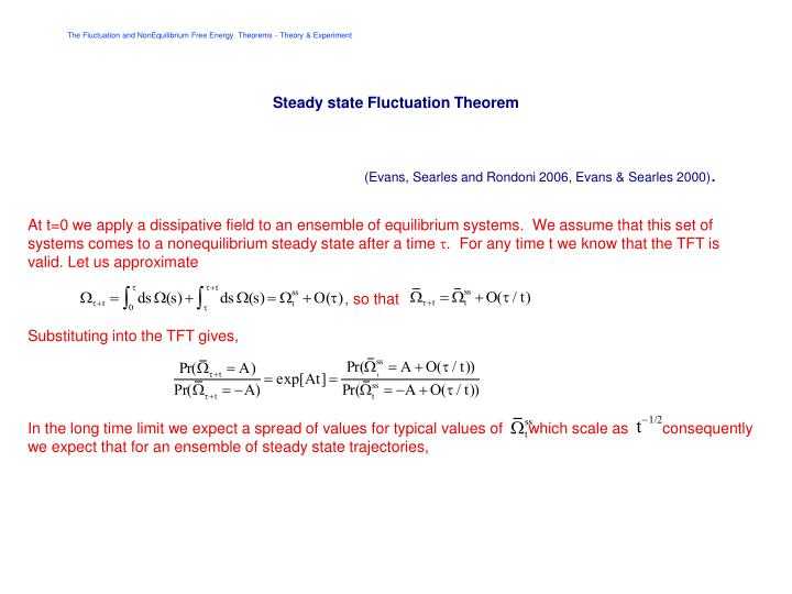 Steady state Fluctuation Theorem