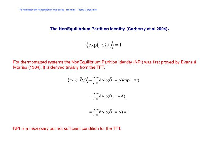 The NonEquilibrium Partition Identity