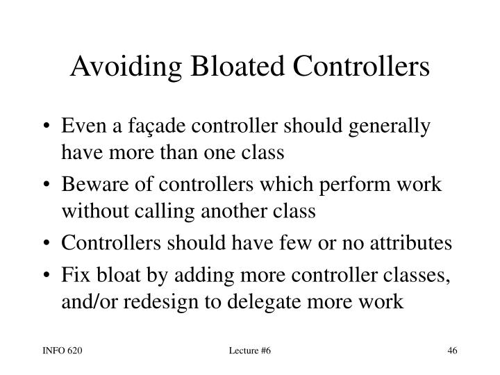 Avoiding Bloated Controllers