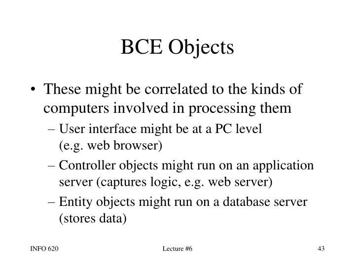 BCE Objects