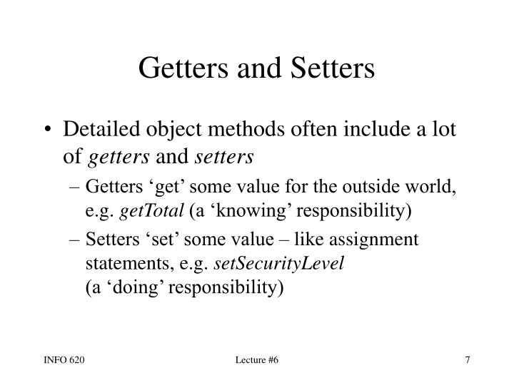 Getters and Setters