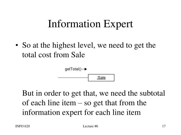 Information Expert
