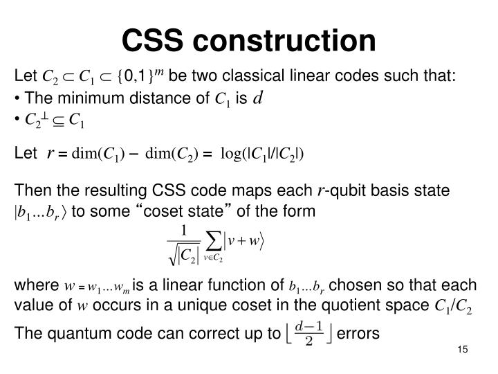 CSS construction