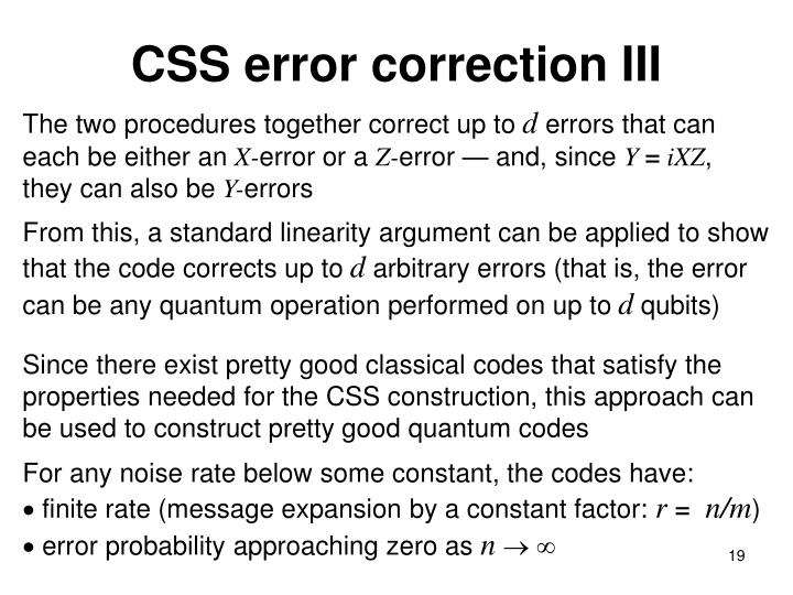 CSS error correction III