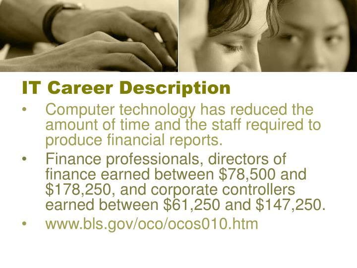 IT Career Description