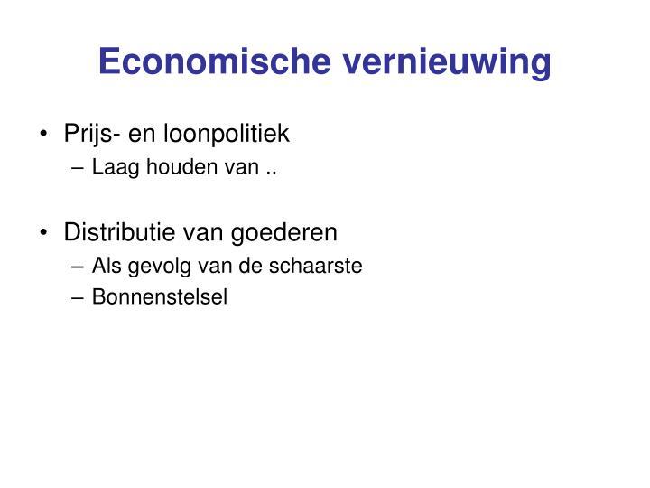 Economische vernieuwing
