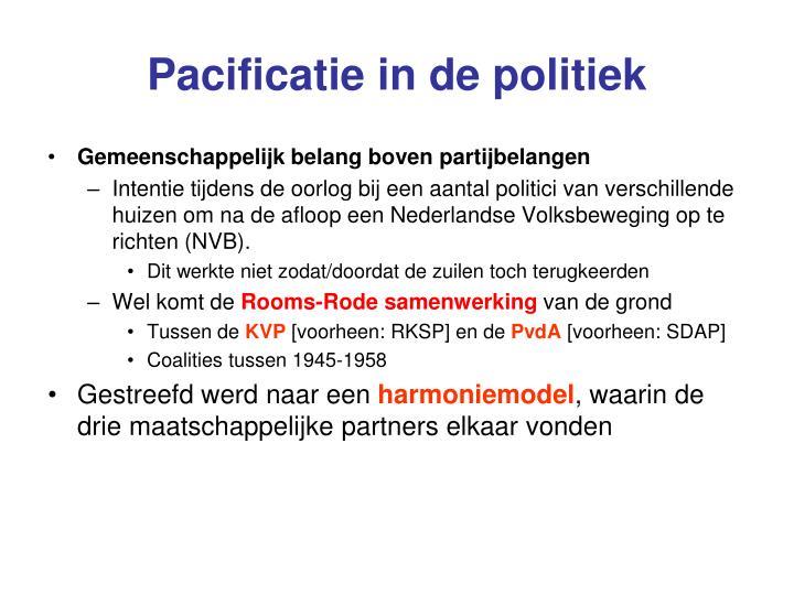 Pacificatie in de politiek