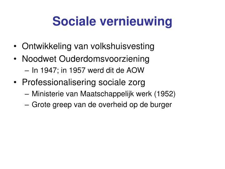 Sociale vernieuwing
