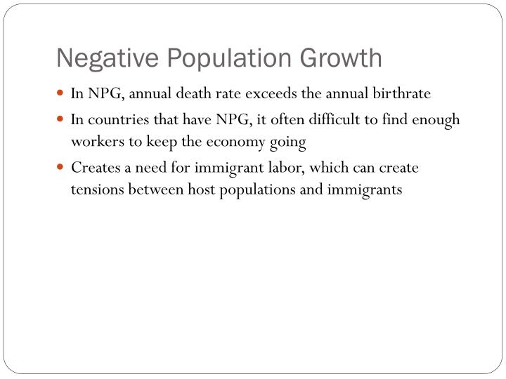 Negative Population Growth