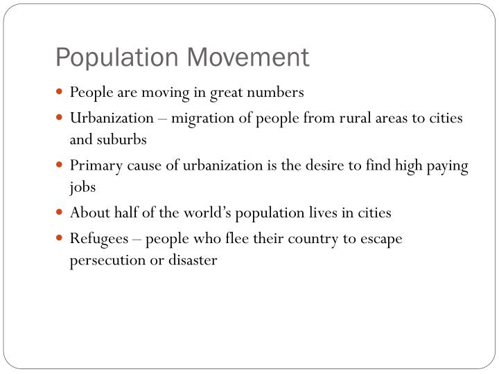 Population Movement