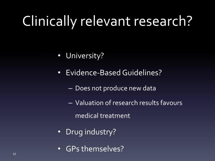 Clinically relevant research?
