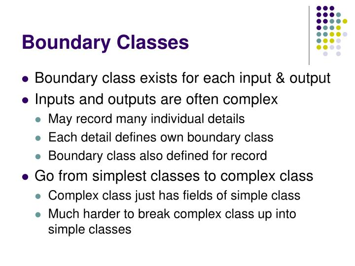 Boundary Classes