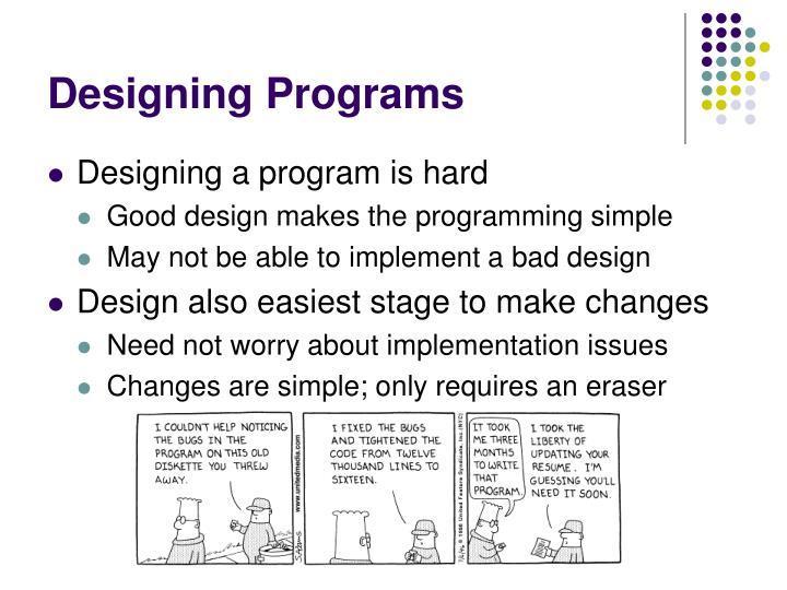Designing Programs