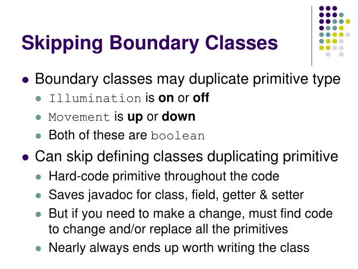 Skipping Boundary Classes