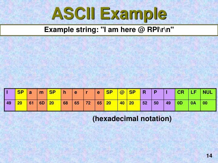 ASCII Example