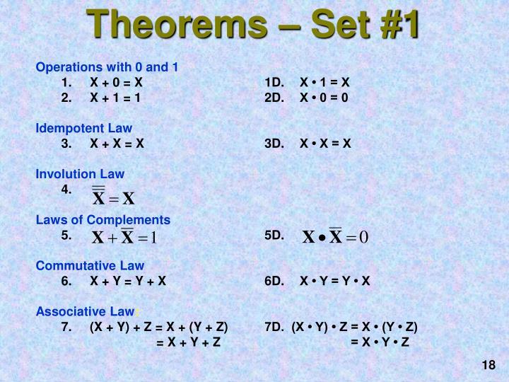 Theorems – Set #1