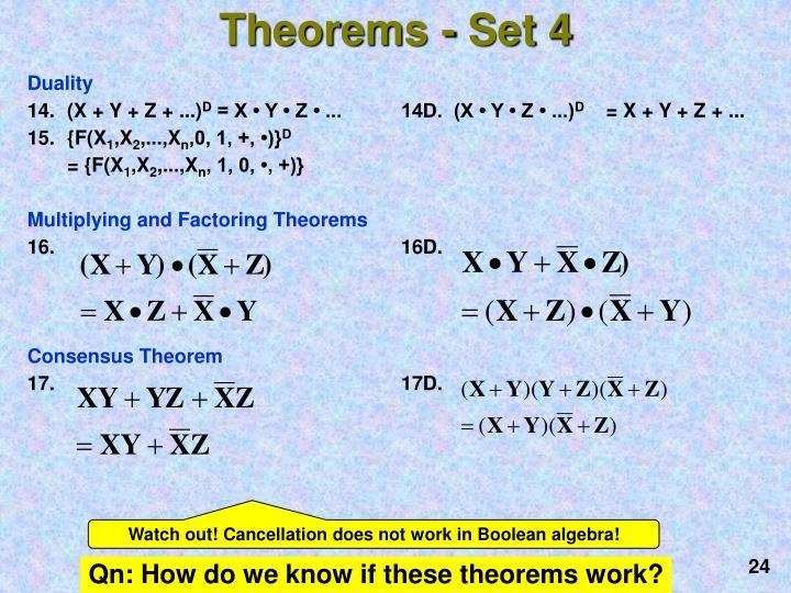 Theorems - Set 4