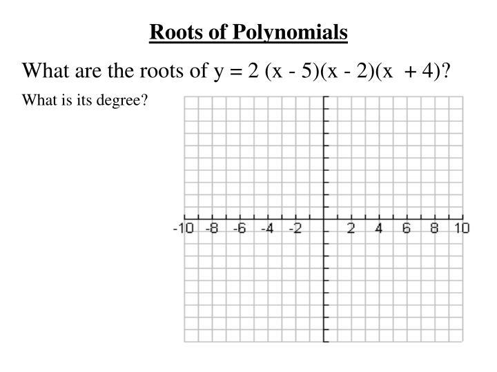 Roots of Polynomials