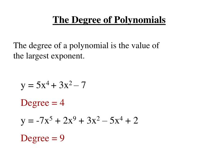 The Degree of Polynomials