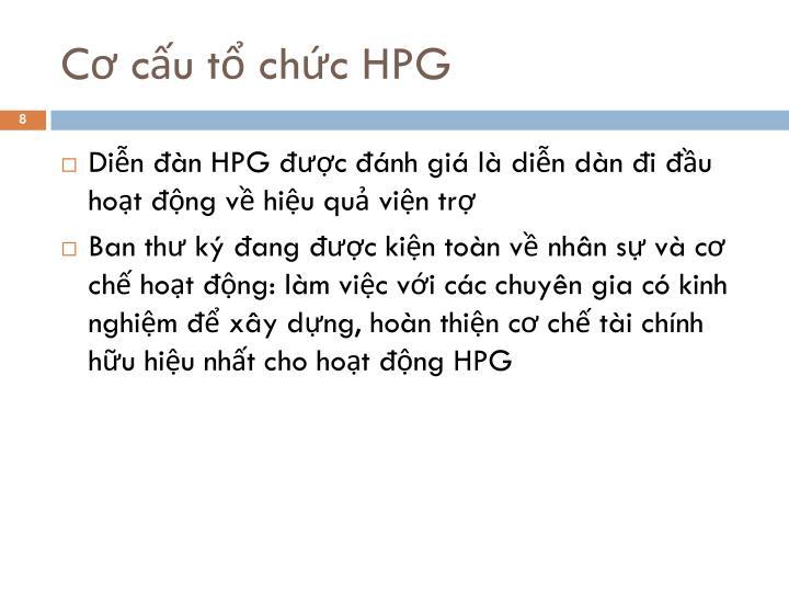 Cơ cấu tổ chức HPG
