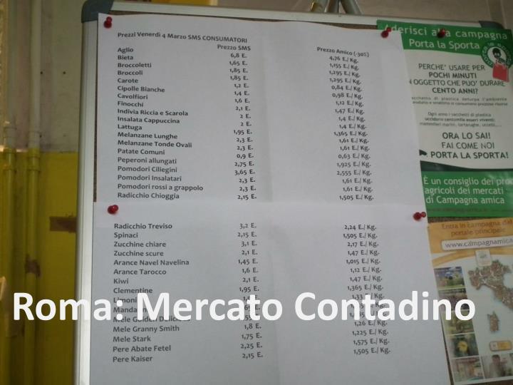 Roma: Mercato Contadino