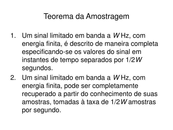 Teorema da Amostragem