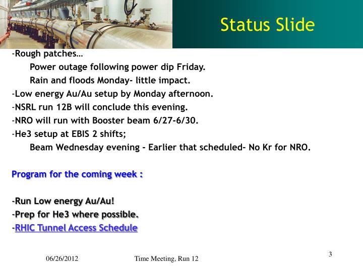 Status Slide
