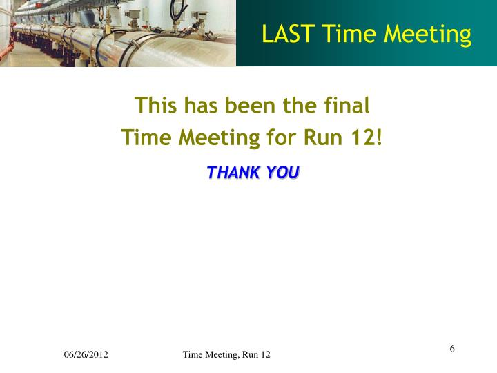 LAST Time Meeting