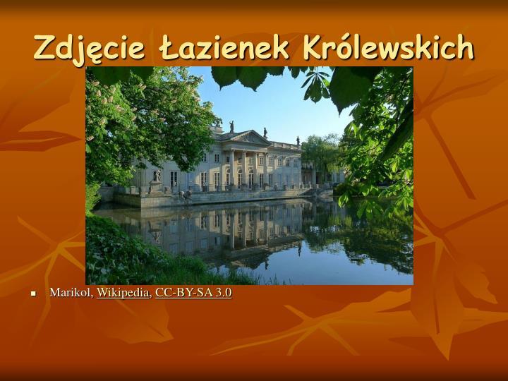 Zdjęcie Łazienek Królewskich