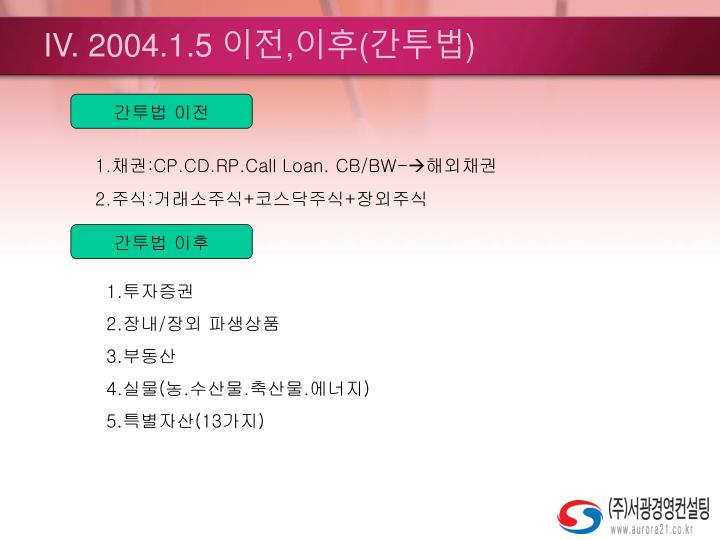 IV. 2004.1.5