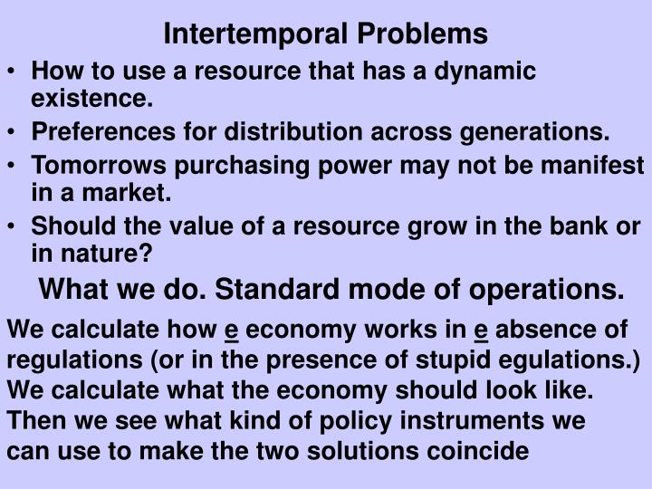 Intertemporal Problems