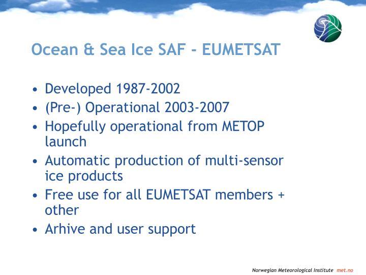 Ocean & Sea Ice SAF - EUMETSAT