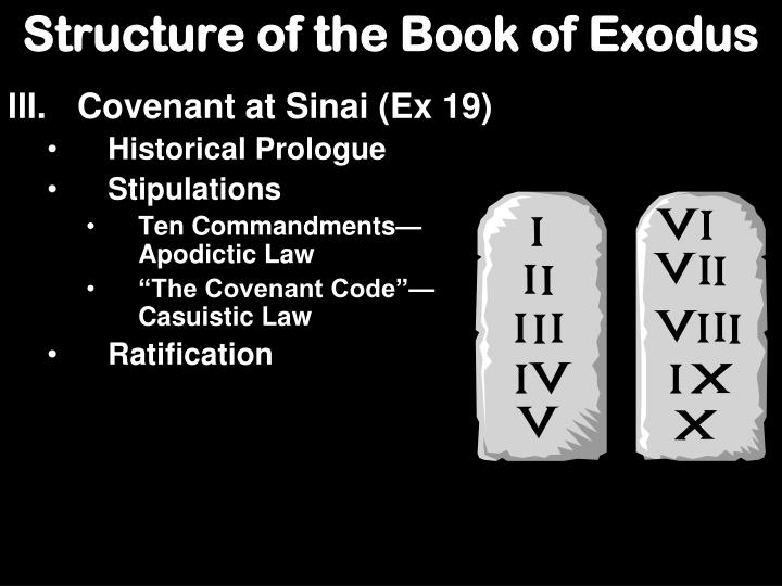 Structure of the Book of Exodus