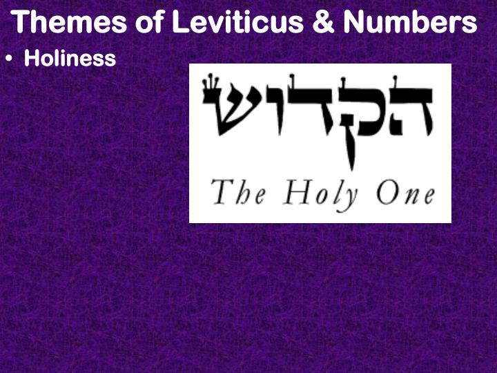Themes of Leviticus & Numbers