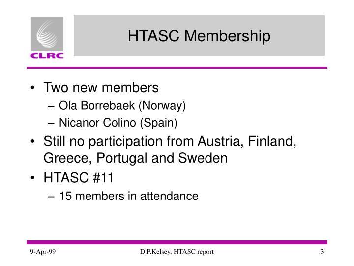 HTASC Membership