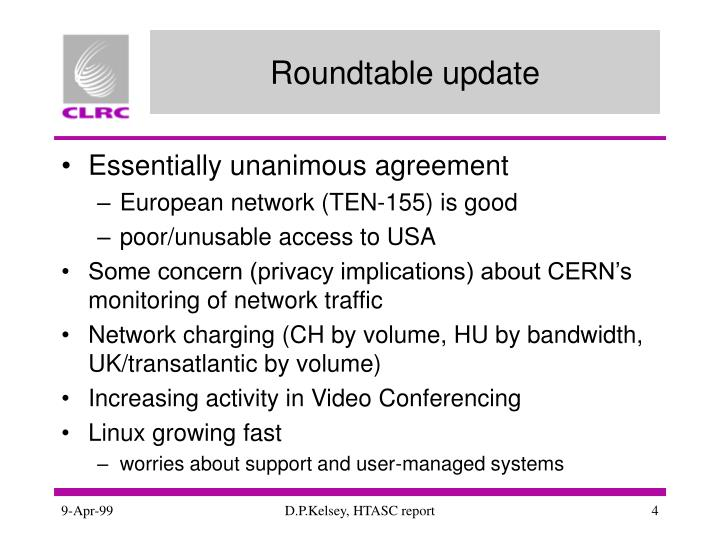 Roundtable update