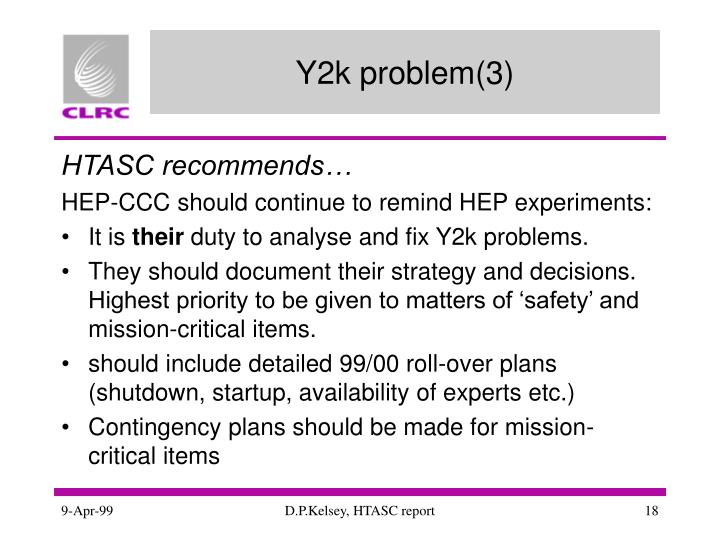 Y2k problem(3)