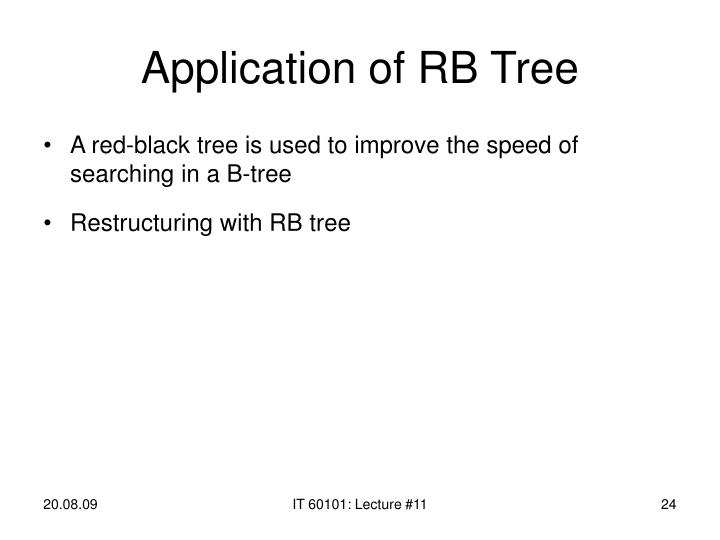 Application of RB Tree