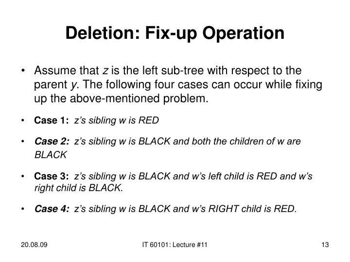 Deletion: Fix-up Operation