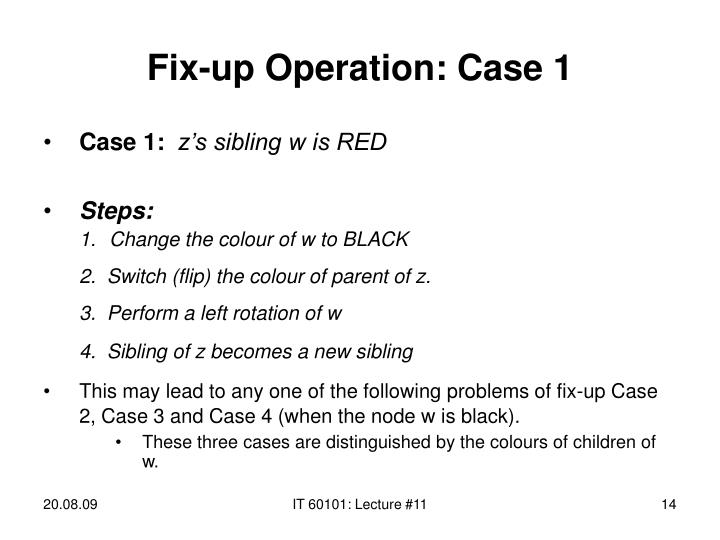 Fix-up Operation: Case 1