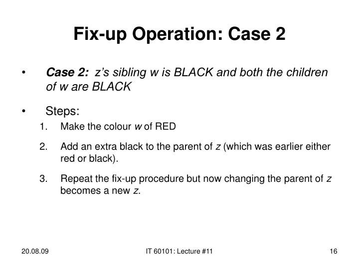 Fix-up Operation: Case 2
