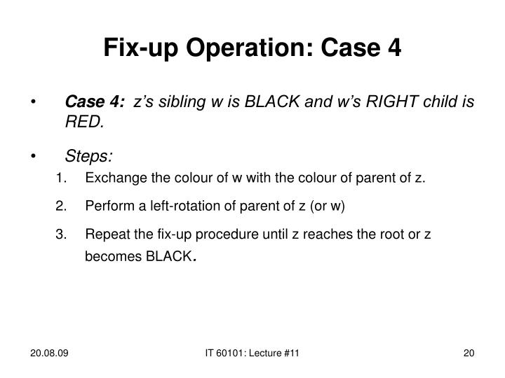 Fix-up Operation: Case 4