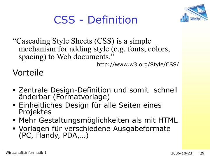 CSS - Definition